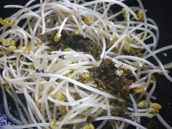 雪菜炒黄豆芽怎么吃