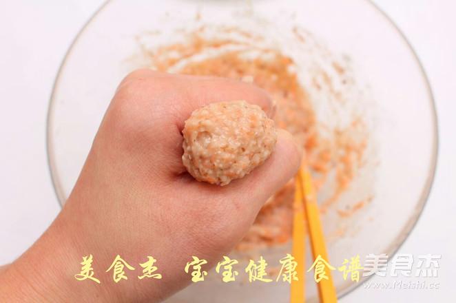 香菇胡萝卜鸡肉丸子  宝宝健康食谱怎么炒