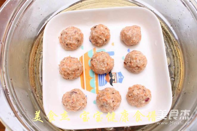 香菇胡萝卜鸡肉丸子  宝宝健康食谱怎么煮
