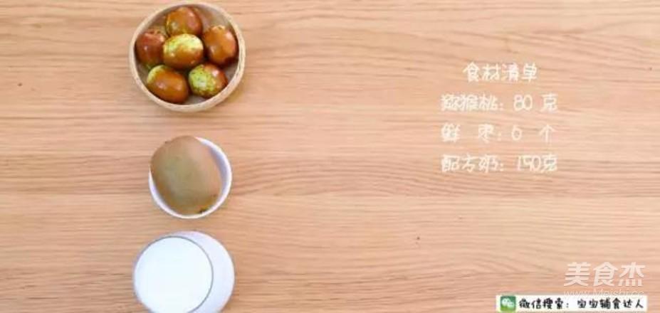 猕猴桃鲜枣奶昔  10个月以上的做法大全