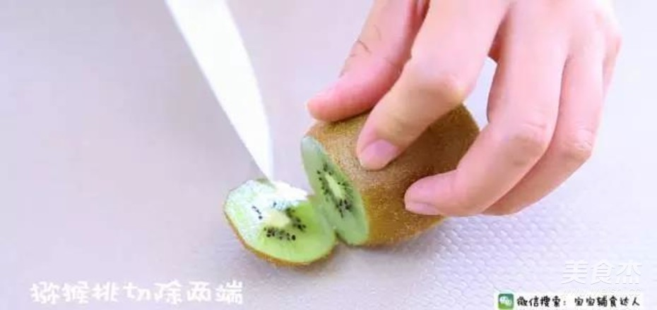 猕猴桃鲜枣奶昔  10个月以上的做法图解