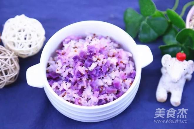 三色藜麦紫薯饭 宝宝辅食食谱怎么煮