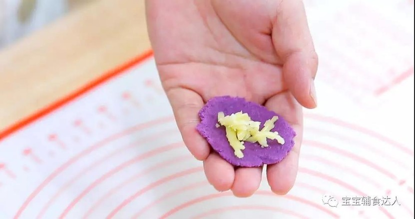 紫薯爆浆芝士仙豆糕 宝宝辅食食谱怎样炒