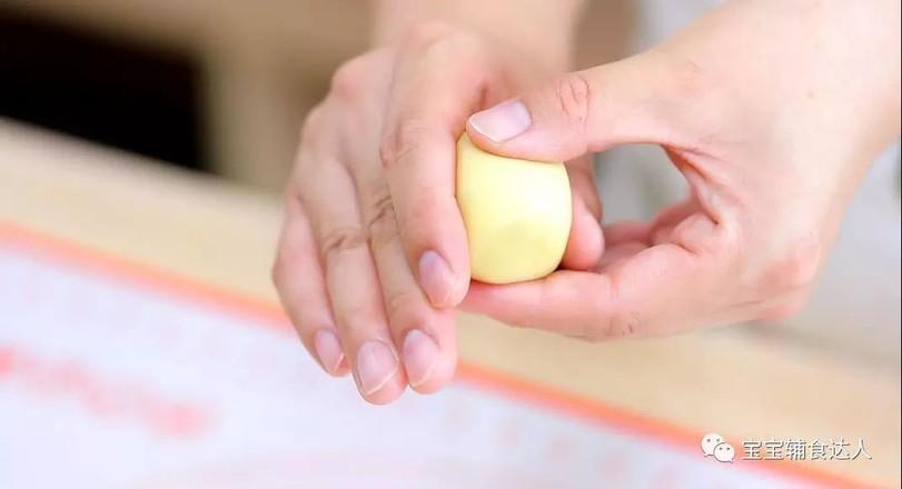 紫薯爆浆芝士仙豆糕 宝宝辅食食谱的制作方法