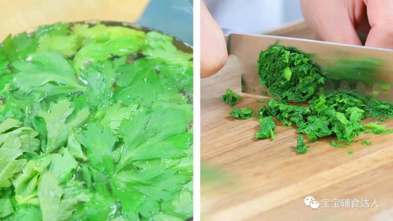 虾仁芹菜烘蛋  宝宝辅食食谱的简单做法