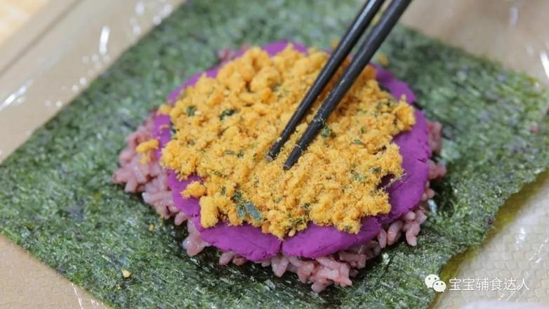 紫米肉松饭团  宝宝辅食食谱怎么炖