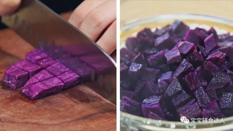 紫薯板栗松糕   宝宝辅食食谱的做法图解