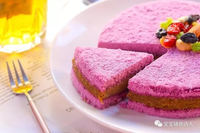 紫薯板栗松糕   宝宝辅食食谱怎样煮
