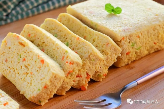干贝豆腐蒸糕  宝宝辅食食谱成品图