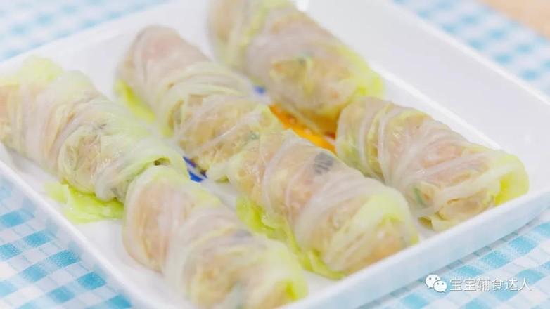 白菜鲜虾卷  宝宝辅食食谱怎样煸