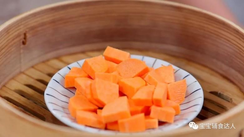 红薯肉松饭团  12个月以上的做法图解