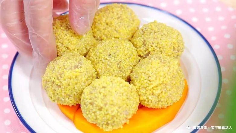小米黄金球  宝宝辅食食谱怎样做