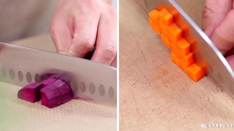 紫薯粗粮披萨  宝宝辅食食谱的做法图解