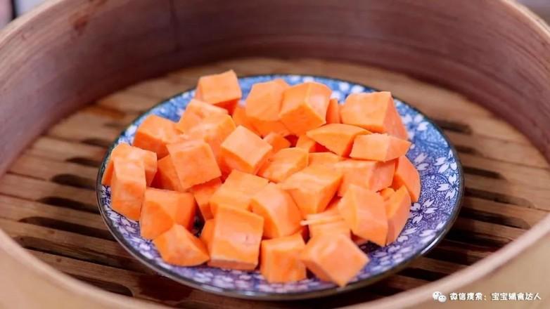 红薯豆沙饼  宝宝辅食食谱的做法图解