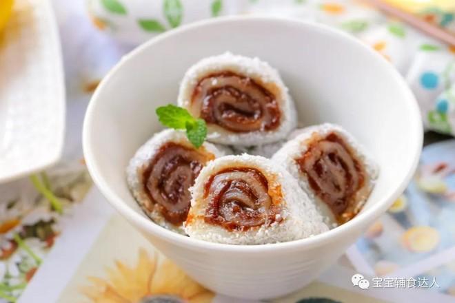 糯米豆沙卷  宝宝辅食食谱怎样做