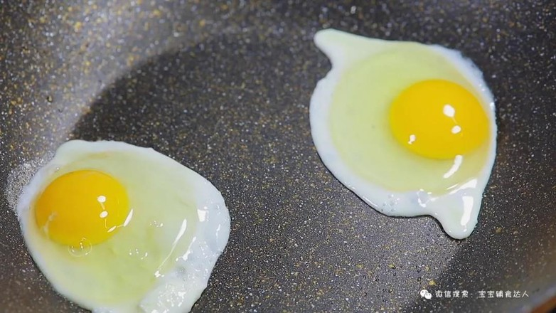 荷包蛋焖面  宝宝辅食食谱的做法图解