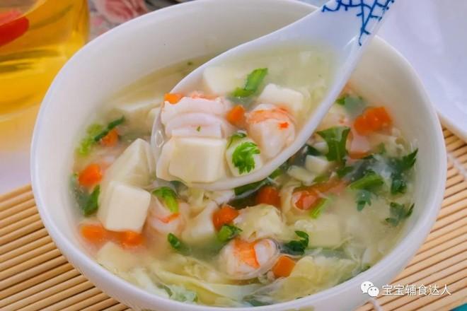 虾仁豆腐羹  宝宝辅食食谱怎样做