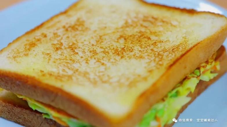 蔬菜三明治  宝宝辅食食谱怎么煸