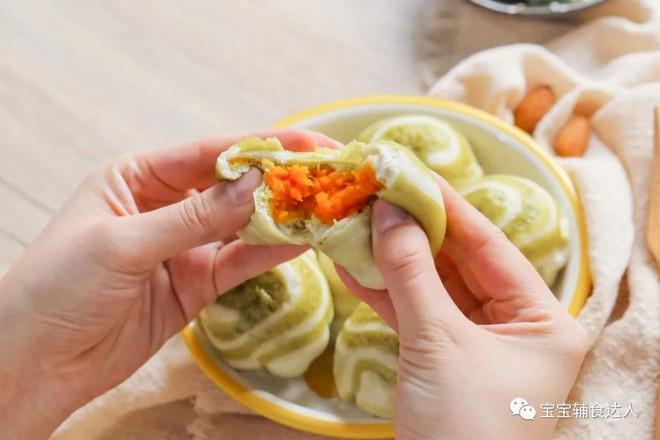 双色夹心餐包【宝宝辅食】的制作方法