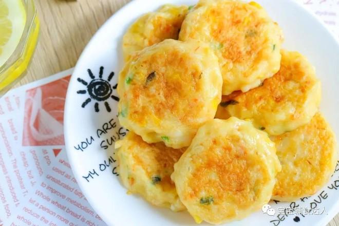 虾仁金针菇饼【宝宝辅食】成品图