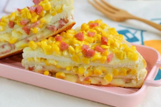 玉米奶酪三明治【宝宝辅食】成品图