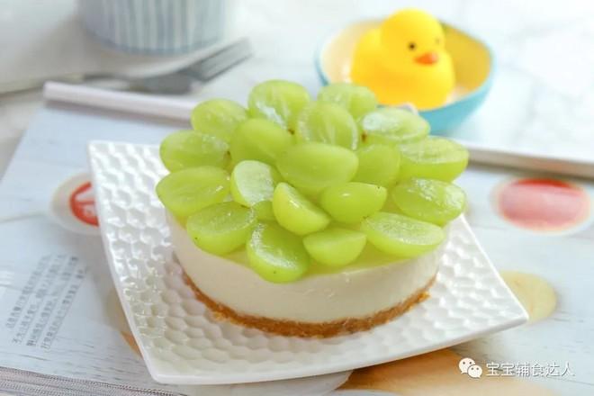 葡萄慕斯蛋糕【宝宝辅食】成品图