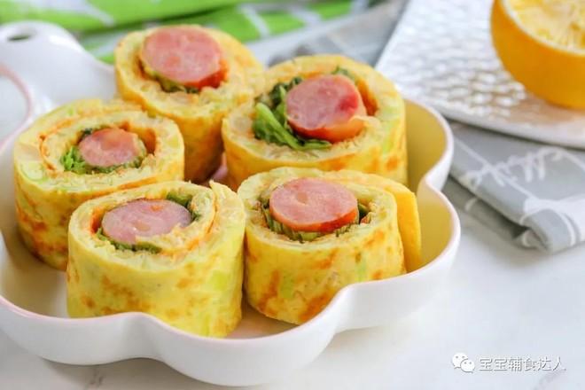 包菜蛋卷【宝宝辅食】的步骤
