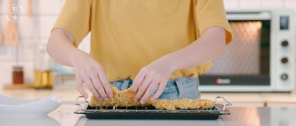 【初味日记】网红薯片炸鸡披萨的步骤