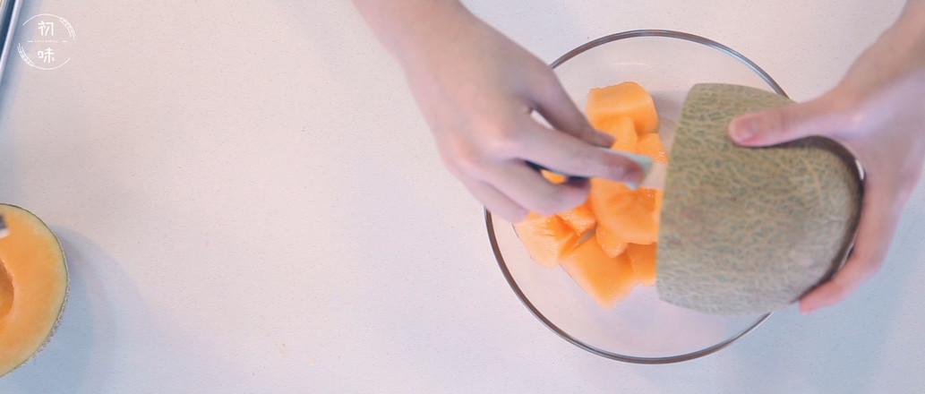 【初味日记】蜜瓜芒果思慕雪的做法图解