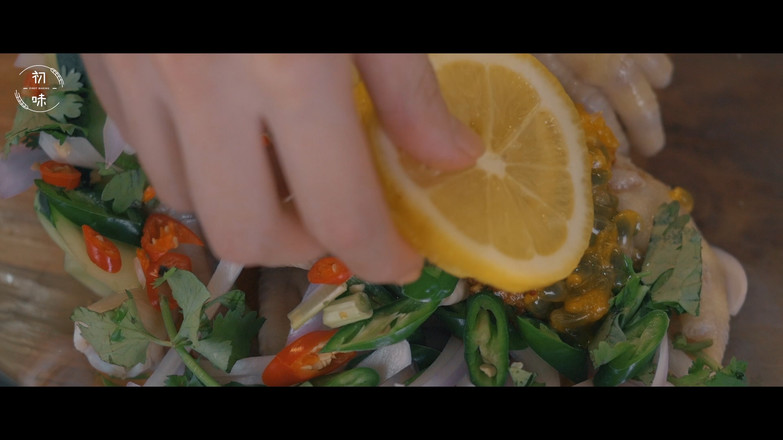 【初味日记】百香果柠檬鸡爪怎样做
