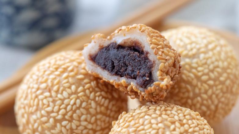 紅豆小煎堆【初味日記】成品圖