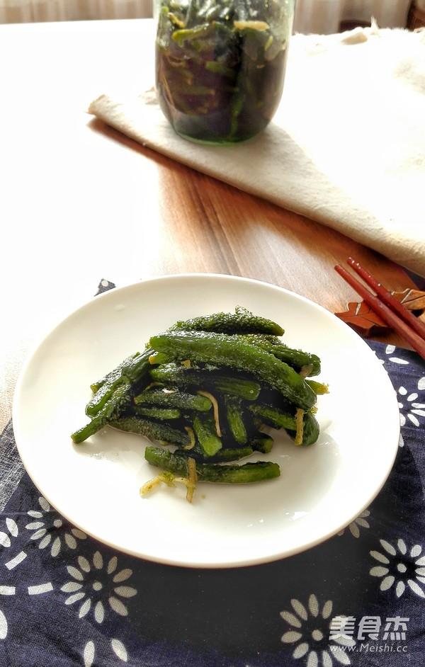 自己腌制的虾油小黄瓜怎么做