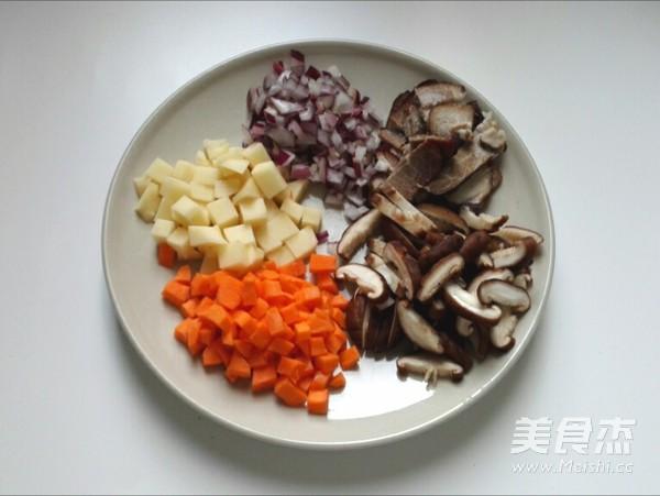 香菇腊肉黑米饭(附如何挑选和鉴别黑米)的做法图解
