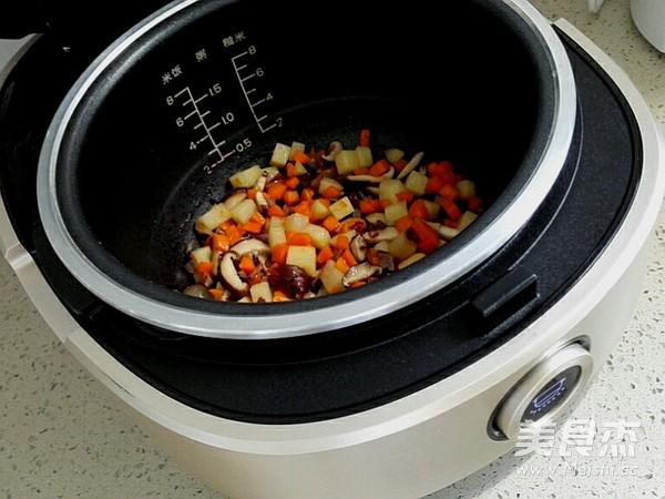 香菇腊肉黑米饭(附如何挑选和鉴别黑米)怎样煸