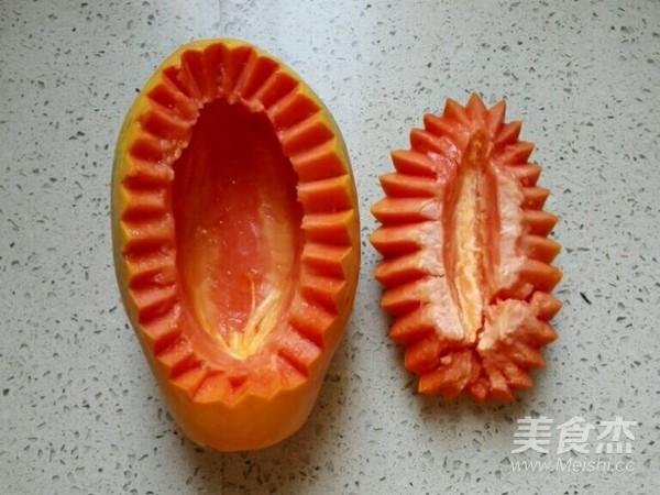 木瓜炖雪蛤怎么做