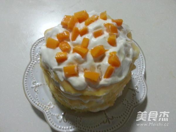 芒果千层蛋糕的步骤