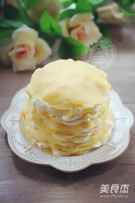 芒果千层蛋糕成品图