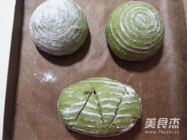 【抹茶红豆软欧包】清新怡人一抹绿怎么吃