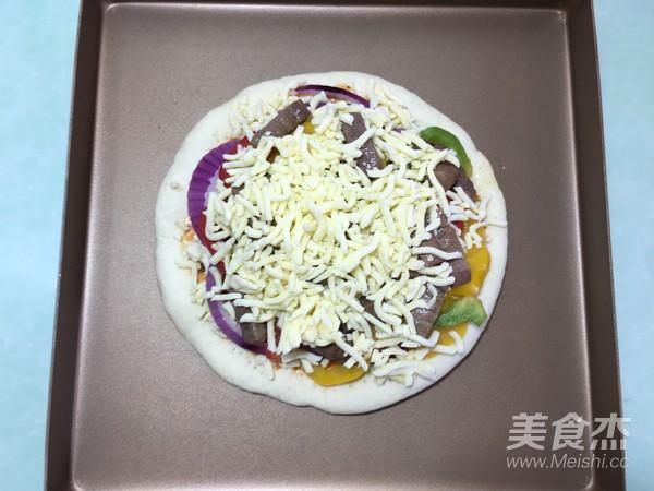 美味的牛排披萨的做法大全