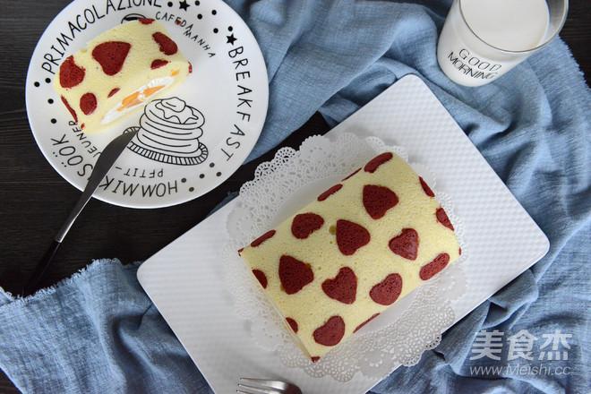 心形彩绘芒果蛋糕卷的做法大全