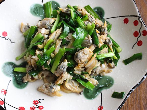 韭菜炒蛤蜊怎么煮