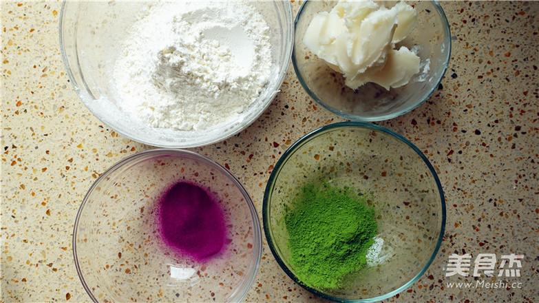 抹茶紫薯蛋黄酥的家常做法