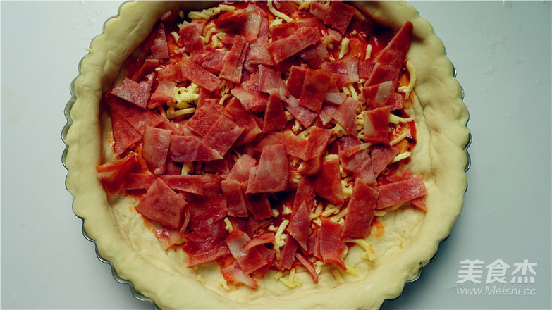 培根田园披萨的制作方法