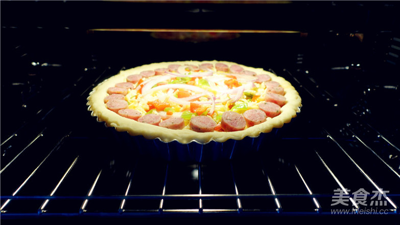 培根田园披萨的做法大全
