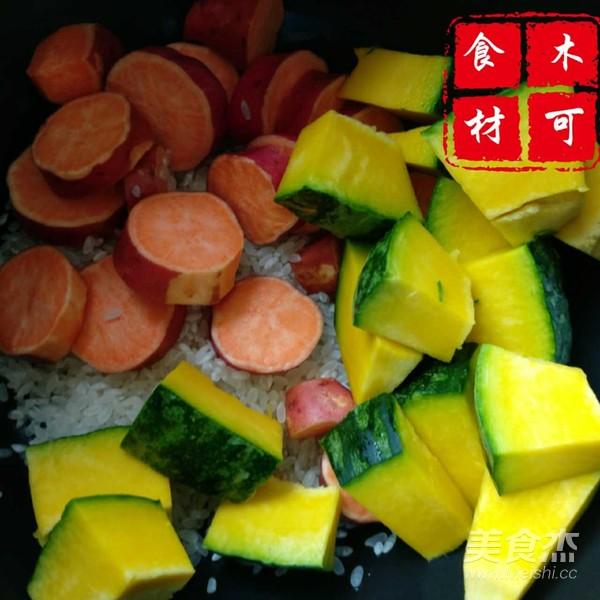 南瓜红薯大米粥的简单做法