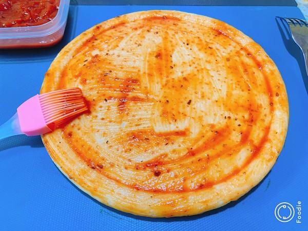 光波田园火腿披萨怎么吃