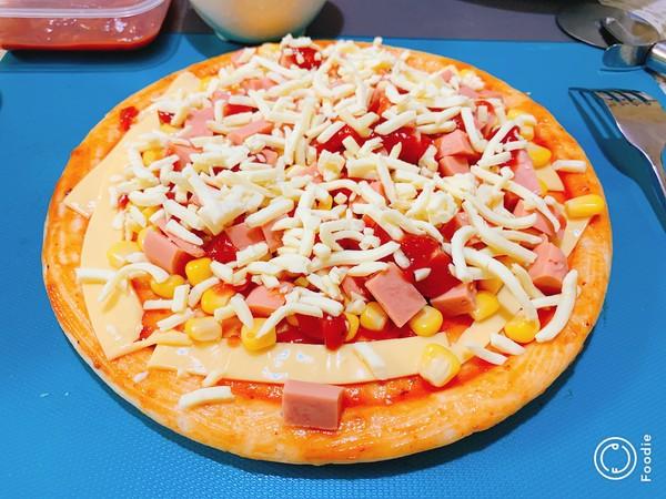光波田园火腿披萨怎么炒
