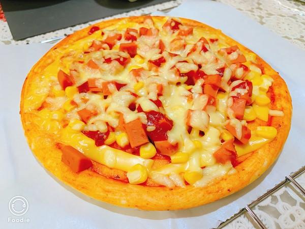 光波田园火腿披萨怎么煸