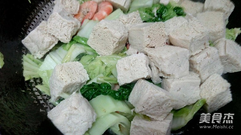 大虾白菜冻豆腐怎么炒