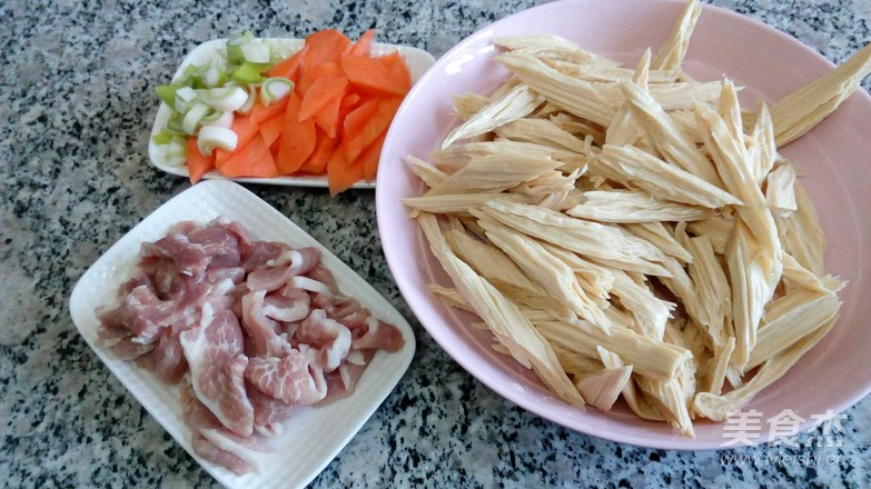 肉炒腐竹怎么做